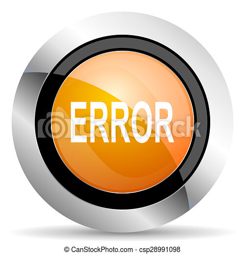 error orange icon - csp28991098
