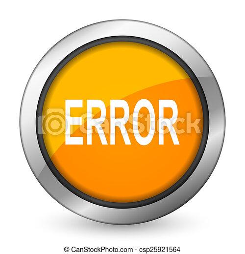error orange icon - csp25921564