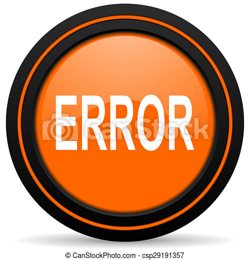 error orange icon - csp29191357
