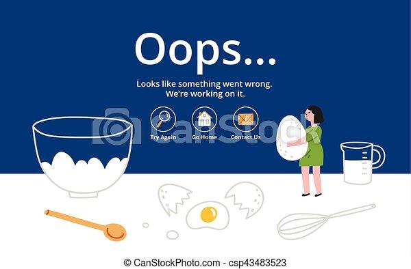 Error page on kitchen background - csp43483523