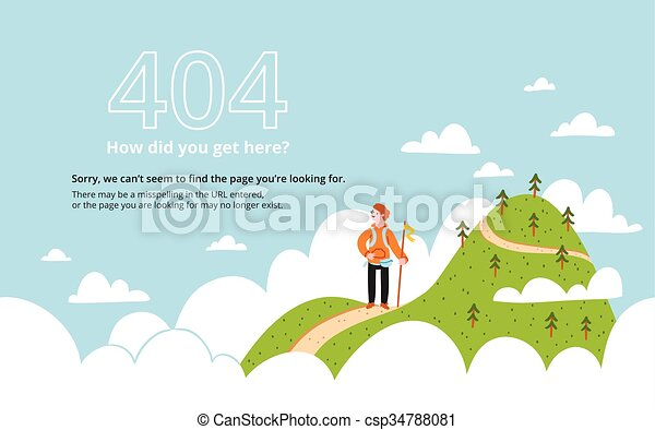 Error page with a mountain - csp34788081