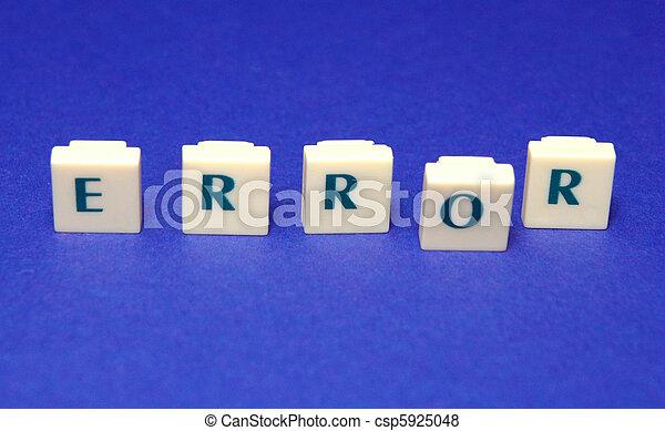 Error - csp5925048