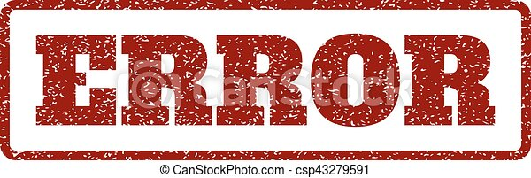 Error Rubber Stamp - csp43279591