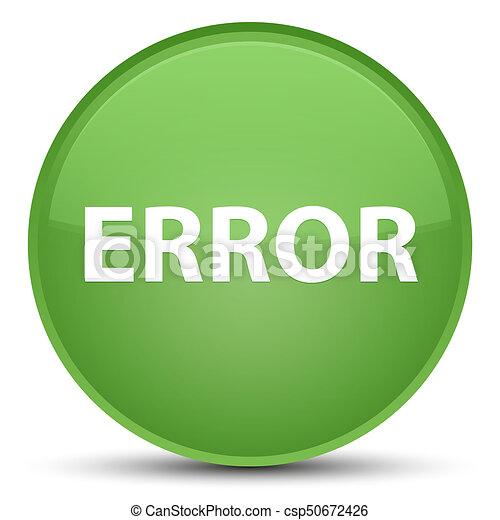 Error special soft green round button - csp50672426