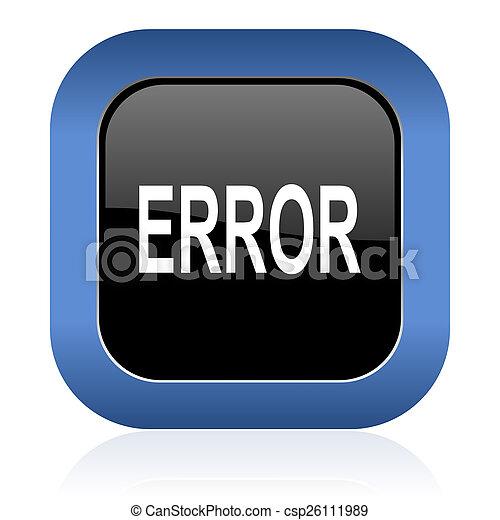 error square glossy icon - csp26111989