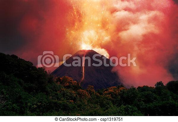 erupting volcano - csp1319751
