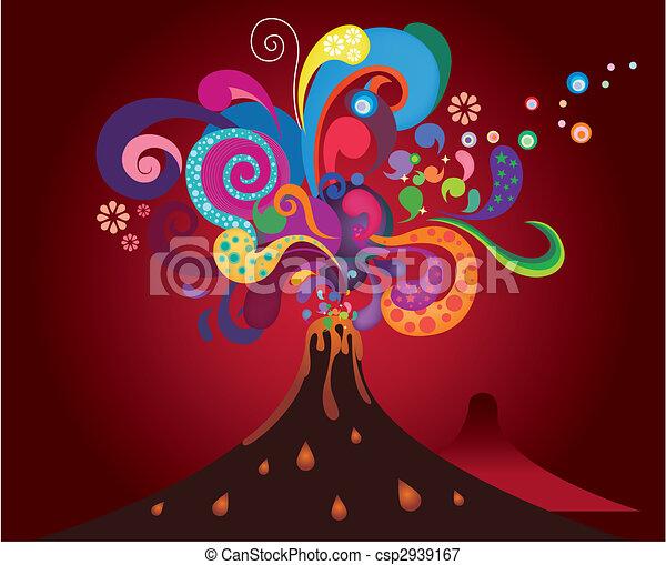 erupting volcano - csp2939167