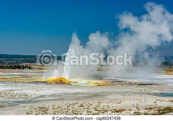 Eruption in Yellowstone - csp60247438