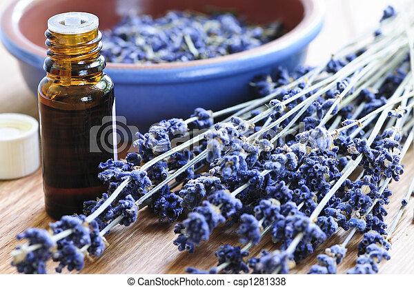 erva, óleo, lavanda, essencial - csp1281338