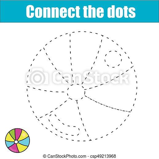 Erzieherisch, färbung, dots., printable, game., practice., kinder ...
