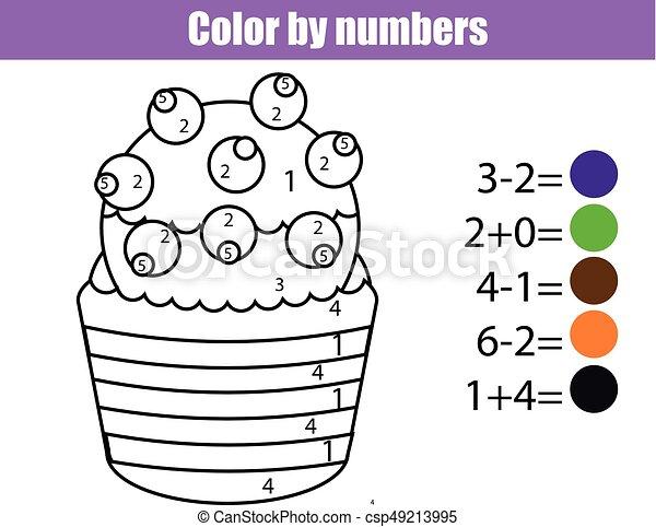 Erzieherisch, färbung, farbe, spiel, mathe, zeichnung,... EPS ...