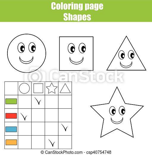 Erzieherisch, färbung, worksheet., printable, üben, sheet., kinder ...