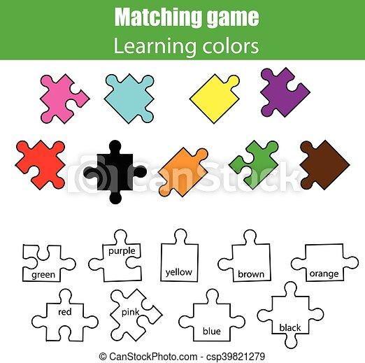 Erzieherisch, kinderspiel, spiel, kinder, farben, lernen ...