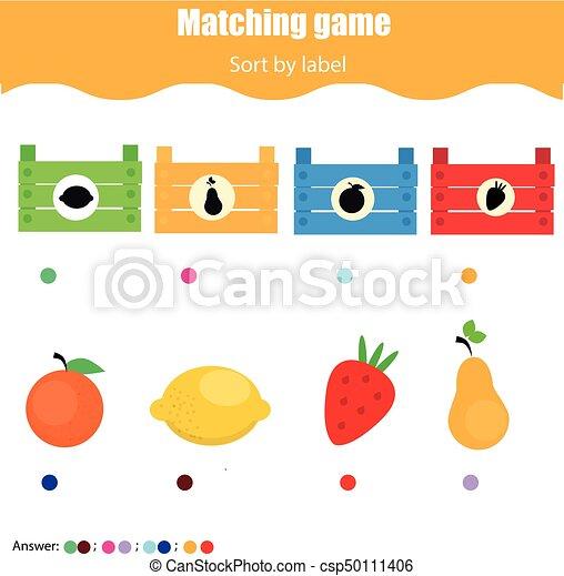Erzieherisch, sortierung, game., kinder, form., kleinkinder, spiel ...