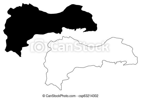 Erzincan map - csp63214302