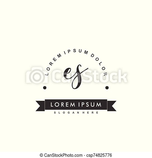 Es Initial Beauty Monogram Logo Vector Initial Beauty Monogram Luxry Logo