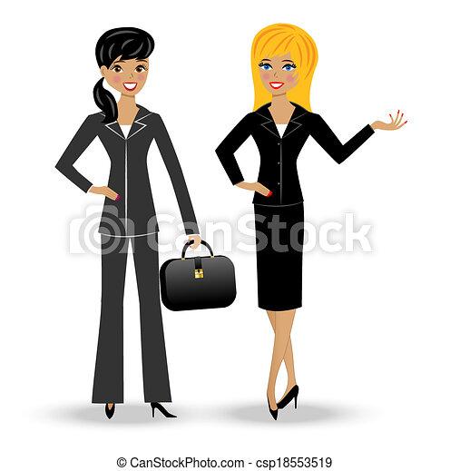 Dos esbeltas mujeres de negocios - csp18553519