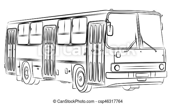 esboço, bus. - csp46317764