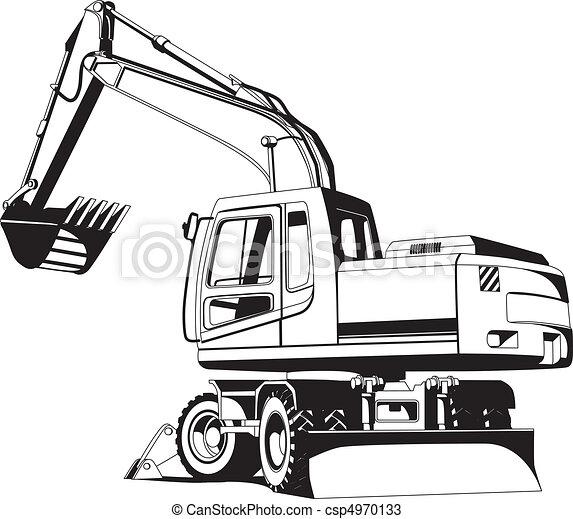 esboço, escavador - csp4970133