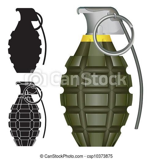 Esboco Granada Mao Mundo Jogo Explosivo Illustration Grau
