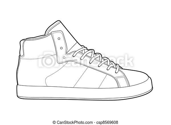 esboço, sapatos - csp8569608