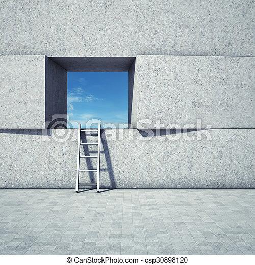 escada, janela, abstratos - csp30898120