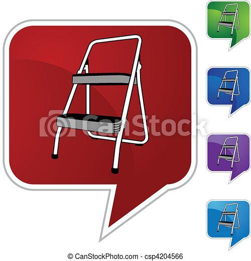 escada mão passo - csp4204566