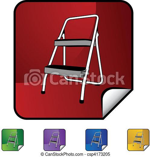 escada mão passo - csp4173205