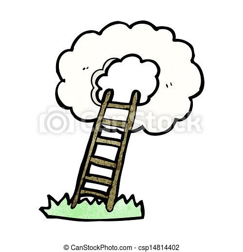 escadaria, céu - csp14814402