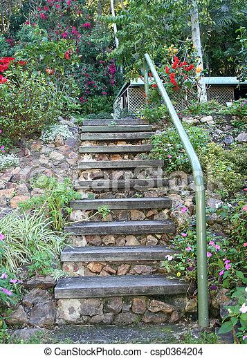 Escadas jardim escadas usado casamentos jardim fila estoque de fotografias fa a busca em - Scala da giardino ...