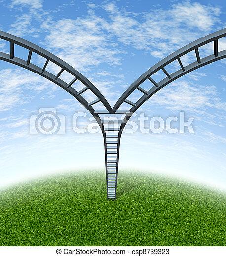 Decisiones corporativas de escalera - csp8739323