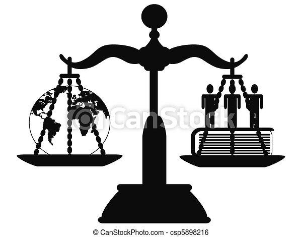 Justicia en la escala - csp5898216