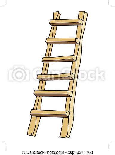 Escalera de madera - csp30341768