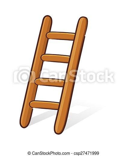 Escalera de madera - csp27471999