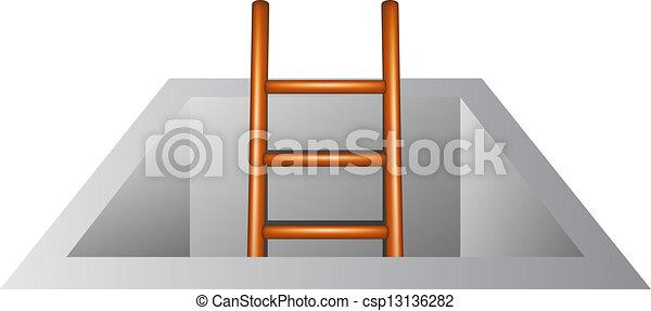 Escalera de madera - csp13136282