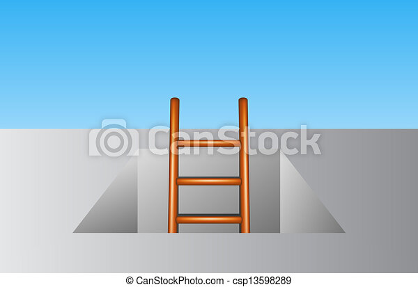 Escalera de madera - csp13598289