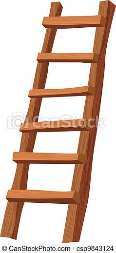 Escalera de madera - csp9843124