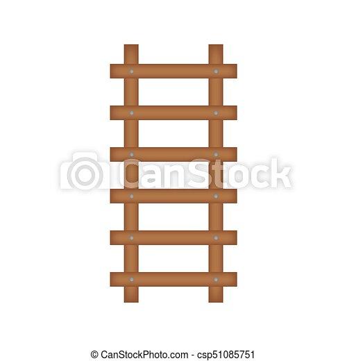El icono de la escalera de madera - csp51085751