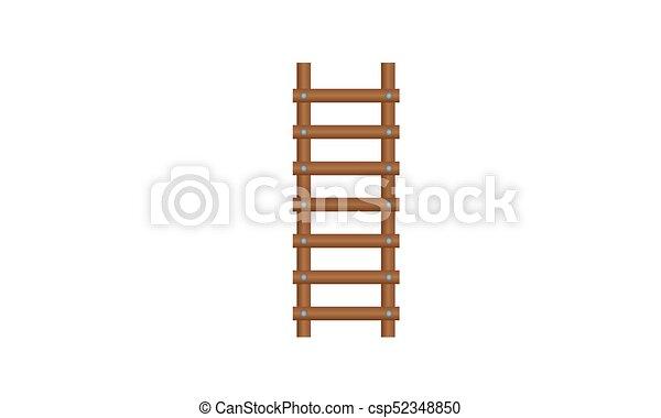 El icono de la escalera de madera - csp52348850