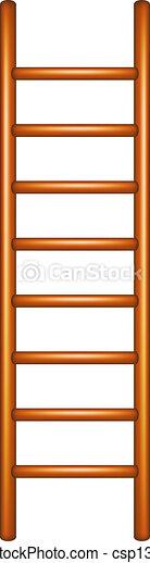 Escalera de madera - csp13214174
