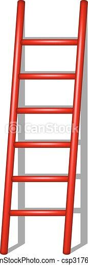 Una escalera de madera con sombra - csp31764662
