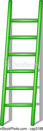 Una escalera de madera con sombra - csp31889851
