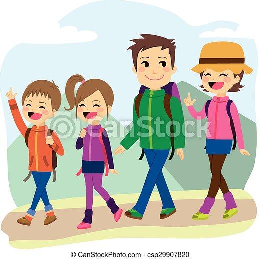 escalade, famille, heureux - csp29907820