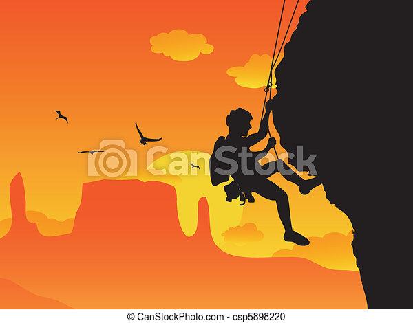 escalade, rocher - csp5898220