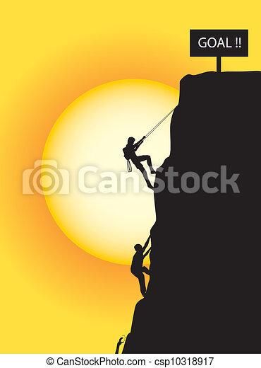 escalando, meta - csp10318917