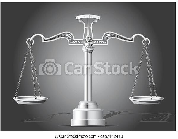 Escamas de justicia - csp7142410