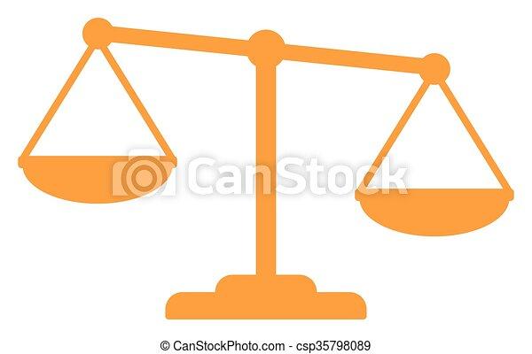 Escamas de oro de la justicia - csp35798089