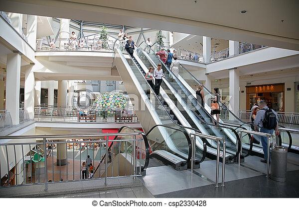 escalator in the mall - csp2330428