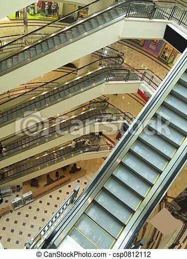 Escalators at shopping mall - csp0812112