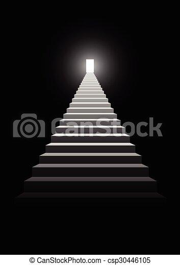 Escalera al éxito - csp30446105